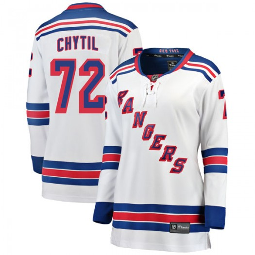Filip Chytil New York Rangers Women's Fanatics Branded White Breakaway Away Jersey
