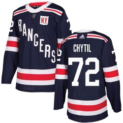 Filip Chytil New York Rangers Youth Adidas Authentic Navy Blue 2018 Winter Classic Jersey