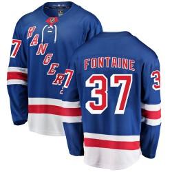 Gabriel Fontaine New York Rangers Men's Fanatics Branded Blue Breakaway Home Jersey