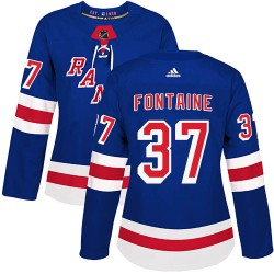 Gabriel Fontaine New York Rangers Women's Adidas Authentic Royal Blue Home Jersey