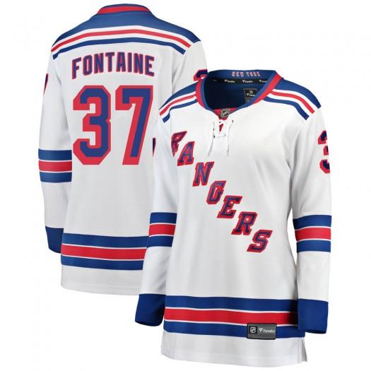 Gabriel Fontaine New York Rangers Women's Fanatics Branded White Breakaway Away Jersey