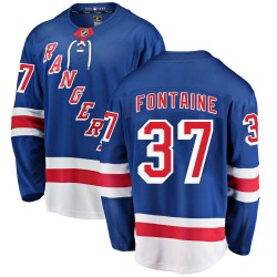 Gabriel Fontaine New York Rangers Youth Fanatics Branded Blue Breakaway Home Jersey