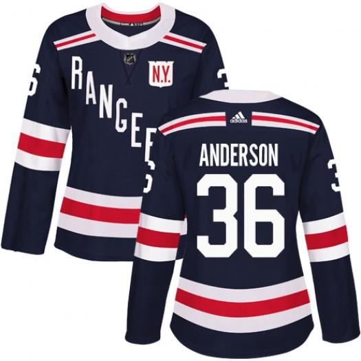 Glenn Anderson New York Rangers Women's Adidas Authentic Navy Blue 2018 Winter Classic Jersey