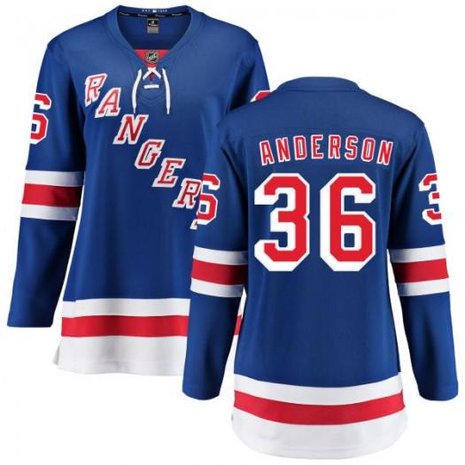 Glenn Anderson New York Rangers Women's Fanatics Branded Blue Home Breakaway Jersey
