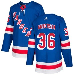 Glenn Anderson New York Rangers Youth Adidas Authentic Royal Blue Home Jersey