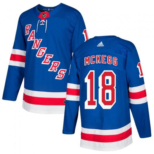 Greg McKegg New York Rangers Men's Adidas Authentic Royal Blue Home Jersey