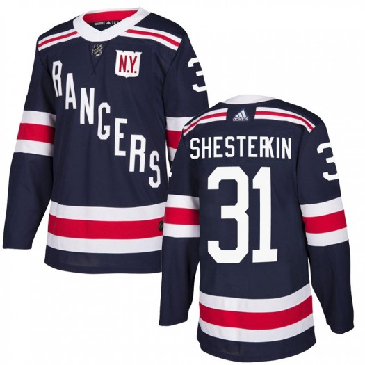 Igor Shesterkin New York Rangers Men's Adidas Authentic Navy Blue 2018 Winter Classic Home Jersey