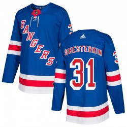 Igor Shesterkin New York Rangers Men's Adidas Authentic Royal Blue Home Jersey