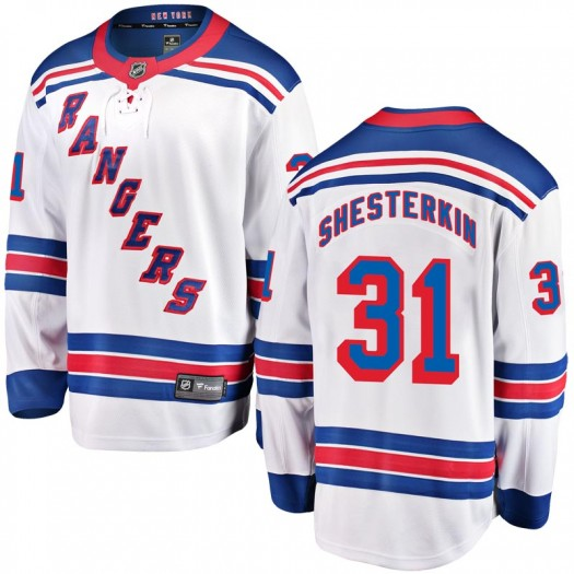 Igor Shesterkin New York Rangers Men's Fanatics Branded White Breakaway Away Jersey