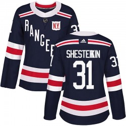 Igor Shesterkin New York Rangers Women's Adidas Authentic Navy Blue 2018 Winter Classic Home Jersey