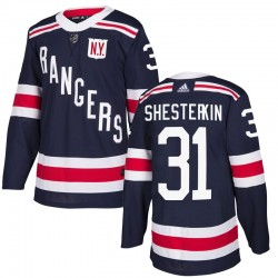 Igor Shesterkin New York Rangers Youth Adidas Authentic Navy Blue 2018 Winter Classic Home Jersey