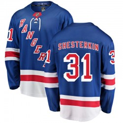 Igor Shesterkin New York Rangers Youth Fanatics Branded Blue Breakaway Home Jersey