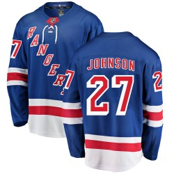 Jack Johnson New York Rangers Men's Fanatics Branded Blue Breakaway Home Jersey