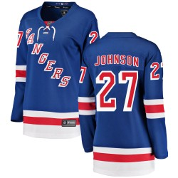 Jack Johnson New York Rangers Women's Fanatics Branded Blue Breakaway Home Jersey