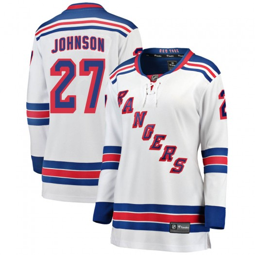 Jack Johnson New York Rangers Women's Fanatics Branded White Breakaway Away Jersey