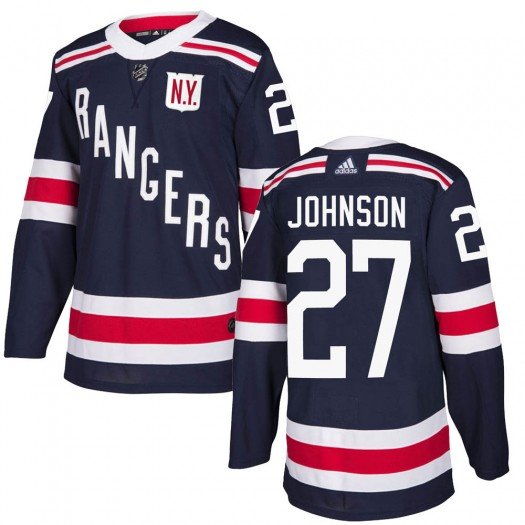 Jack Johnson New York Rangers Youth Adidas Authentic Navy Blue 2018 Winter Classic Home Jersey