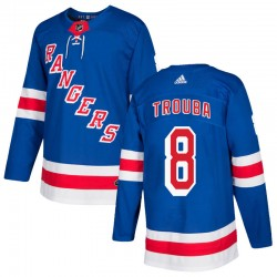Jacob Trouba New York Rangers Men's Adidas Authentic Royal Blue Home Jersey