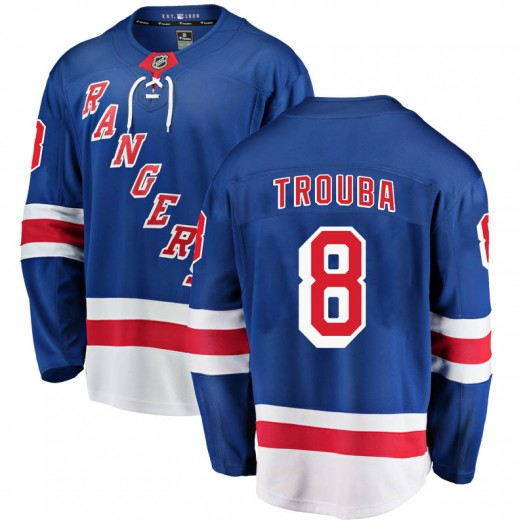 Jacob Trouba New York Rangers Men's Fanatics Branded Blue Breakaway Home Jersey