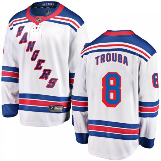 Jacob Trouba New York Rangers Men's Fanatics Branded White Breakaway Away Jersey