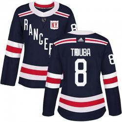 Jacob Trouba New York Rangers Women's Adidas Authentic Navy Blue 2018 Winter Classic Home Jersey