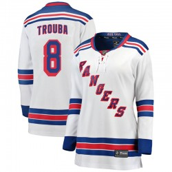 Jacob Trouba New York Rangers Women's Fanatics Branded White Breakaway Away Jersey