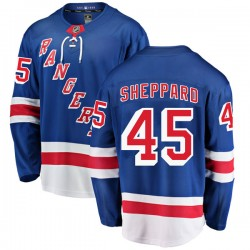 James Sheppard New York Rangers Men's Fanatics Branded Blue Breakaway Home Jersey