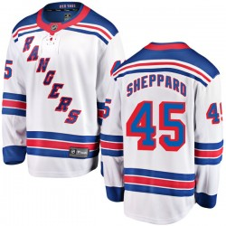 James Sheppard New York Rangers Men's Fanatics Branded White Breakaway Away Jersey