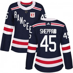 James Sheppard New York Rangers Women's Adidas Authentic Navy Blue 2018 Winter Classic Home Jersey