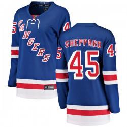James Sheppard New York Rangers Women's Fanatics Branded Blue Breakaway Home Jersey