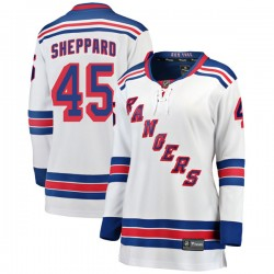 James Sheppard New York Rangers Women's Fanatics Branded White Breakaway Away Jersey