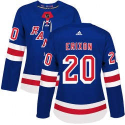 Jan Erixon New York Rangers Women's Adidas Authentic Royal Blue Home Jersey