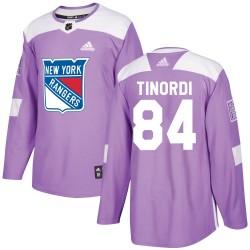 Jarred Tinordi New York Rangers Men's Adidas Authentic Purple Fights Cancer Practice Jersey