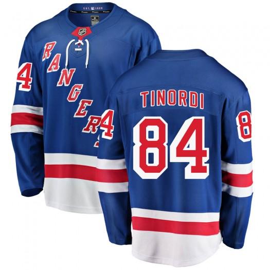 Jarred Tinordi New York Rangers Men's Fanatics Branded Blue Breakaway Home Jersey
