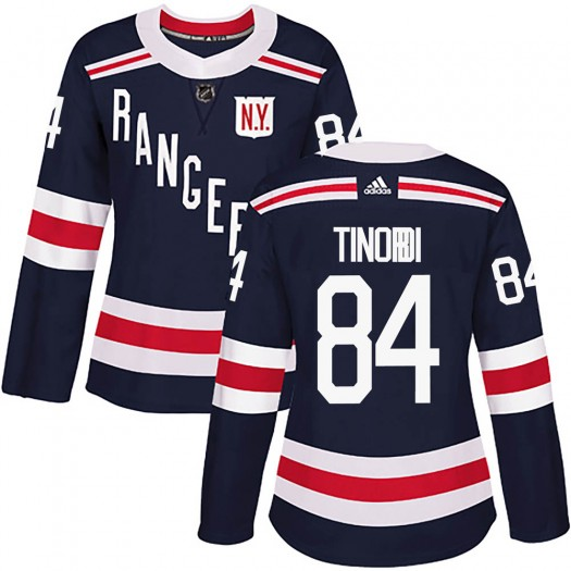 Jarred Tinordi New York Rangers Women's Adidas Authentic Navy Blue 2018 Winter Classic Home Jersey