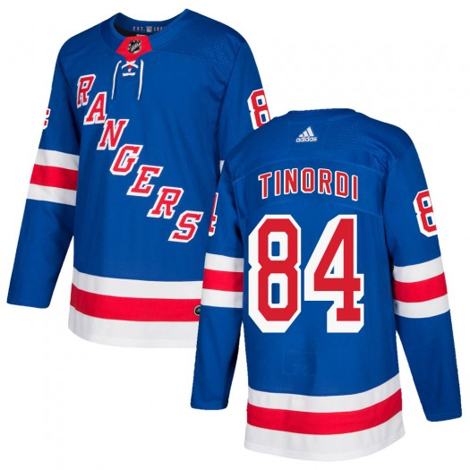 Jarred Tinordi New York Rangers Youth Adidas Authentic Royal Blue Home Jersey