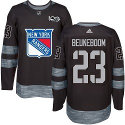 Jeff Beukeboom New York Rangers Men's Adidas Authentic Black 1917-2017 100th Anniversary Jersey