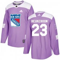 Jeff Beukeboom New York Rangers Men's Adidas Authentic Purple Fights Cancer Practice Jersey