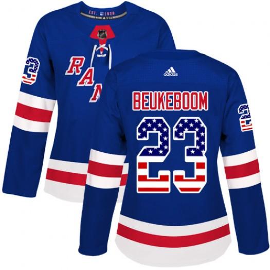 Jeff Beukeboom New York Rangers Women's Adidas Authentic Royal Blue USA Flag Fashion Jersey