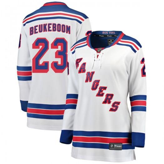 Jeff Beukeboom New York Rangers Women's Fanatics Branded White Breakaway Away Jersey