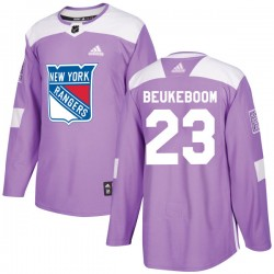 Jeff Beukeboom New York Rangers Youth Adidas Authentic Purple Fights Cancer Practice Jersey