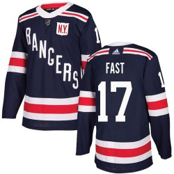 Jesper Fast New York Rangers Youth Adidas Authentic Navy Blue 2018 Winter Classic Jersey