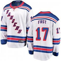 Jesper Fast New York Rangers Youth Fanatics Branded White Breakaway Away Jersey