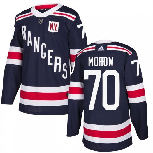 Joe Morrow New York Rangers Men's Adidas Authentic Navy Blue 2018 Winter Classic Home Jersey