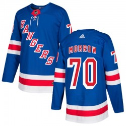 Joe Morrow New York Rangers Men's Adidas Authentic Royal Blue Home Jersey