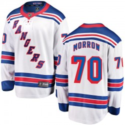 Joe Morrow New York Rangers Men's Fanatics Branded White Breakaway Away Jersey