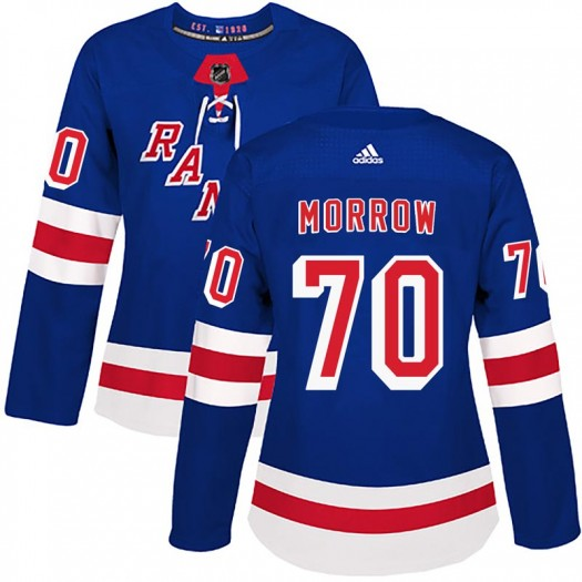 Joe Morrow New York Rangers Women's Adidas Authentic Royal Blue Home Jersey