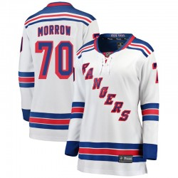 Joe Morrow New York Rangers Women's Fanatics Branded White Breakaway Away Jersey