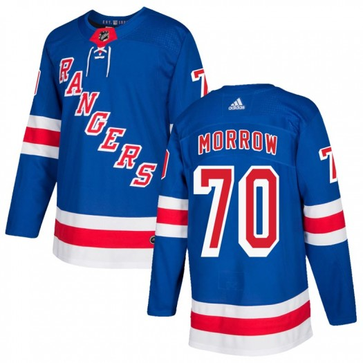 Joe Morrow New York Rangers Youth Adidas Authentic Royal Blue Home Jersey