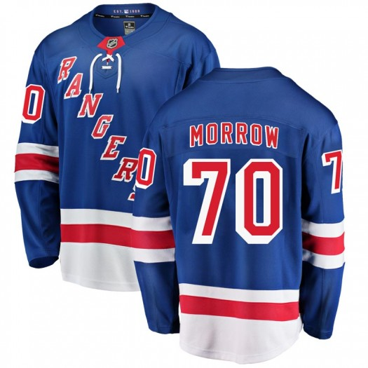 Joe Morrow New York Rangers Youth Fanatics Branded Blue Breakaway Home Jersey