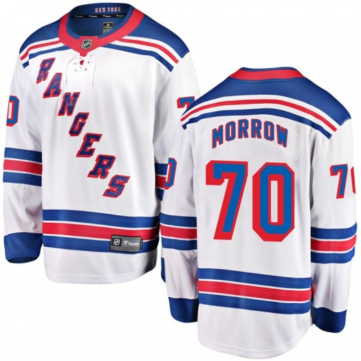 Joe Morrow New York Rangers Youth Fanatics Branded White Breakaway Away Jersey
